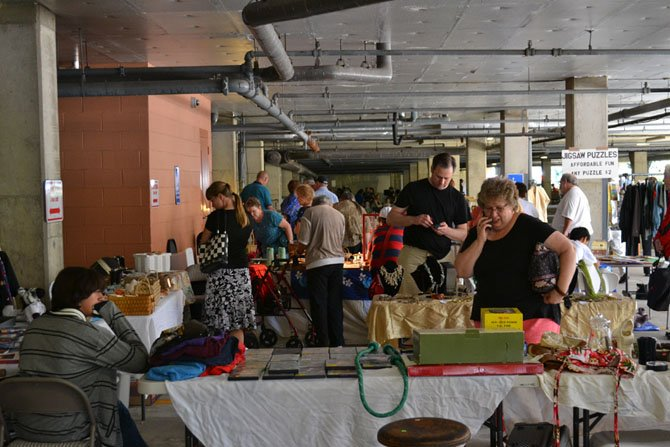 The flea market offered everything from antique treasures to new products from commercial vendors.