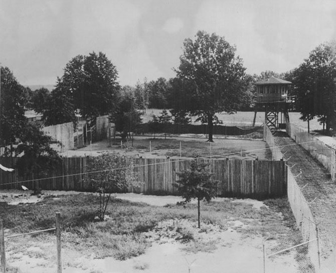 A prisoner of war camp was on the site during World War II.