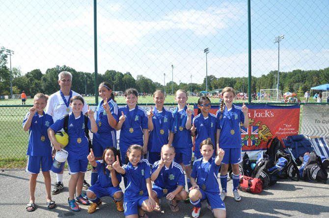 The Great Falls and Reston girls of the Reston Strikers Blue team played and won their first tournament of the season.