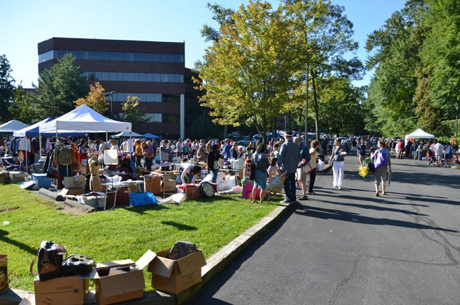 This year's Reston Association Yard Sale had room for 95 vendors.