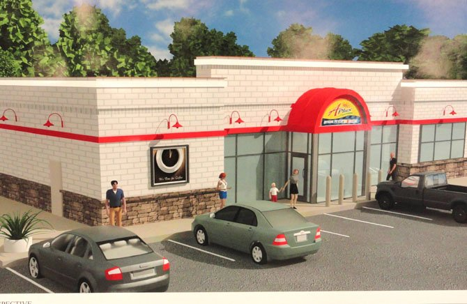 An artist's rendition of Sunoco's proposed new convenience store.