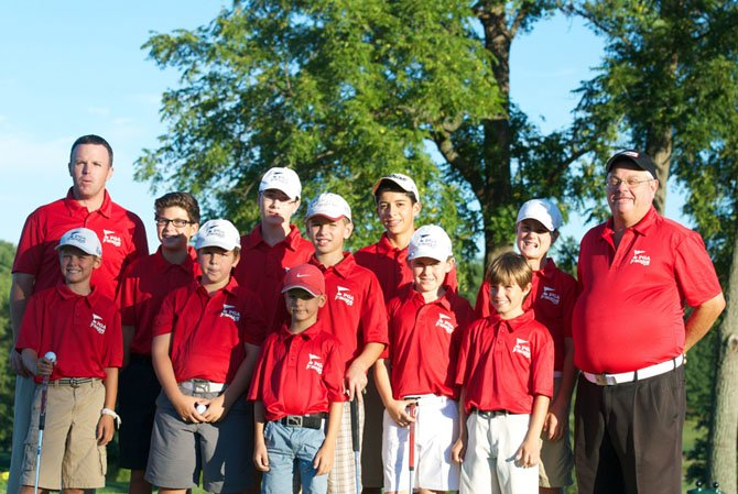 From left (front row) Wesley Duffy, David Stanford, Michael Stanford, Graham Kalan, Mason Jones, Josh DiZinno;