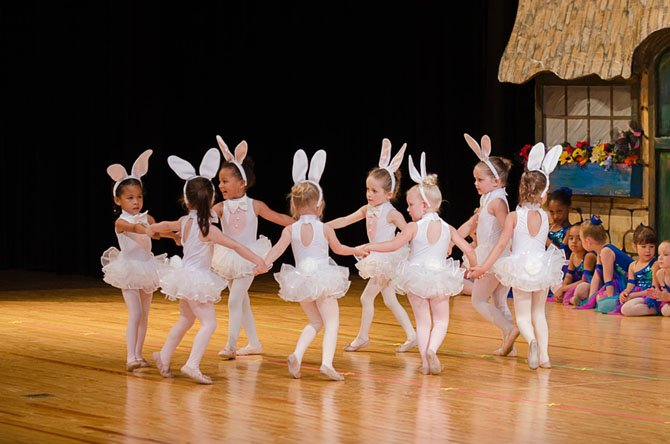 "Tiny Dancers in a recital. The studio has just been voted ""Best Ballet or Dance Studio"" by Washington Family Magazine readers"