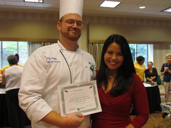 NBC4's Angie Goff and Chef Eric Phipps—Best in Show winner (culinary team).