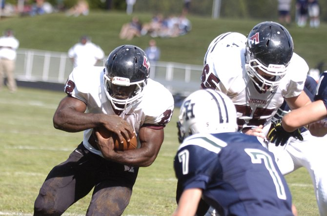 Episcopal running back Nigel Beckford rushed for 312 yards and five touchdowns against Flint Hill on Sept. 13.