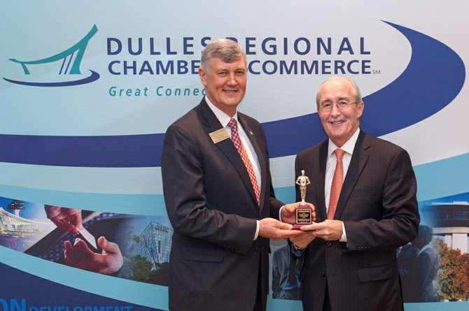 Don Owens Chairman of Dulles Regional Chamber of Commerce with Harry Rauner.