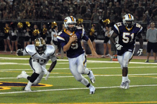 Lake Braddock quarterback Caleb Henderson threw three touchdown passes against Westfield on Friday night.