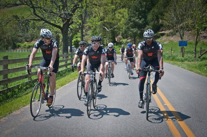 Participants ride in last year's VTV Gran Fondo fundraiser.