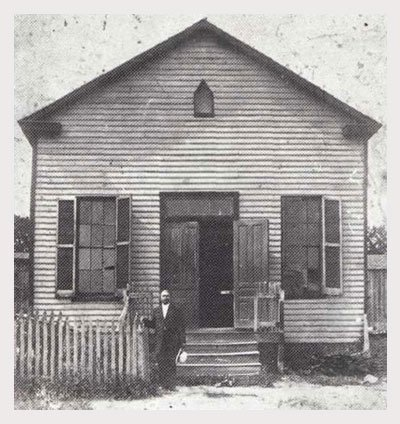 Shiloh Baptist Church's original building.