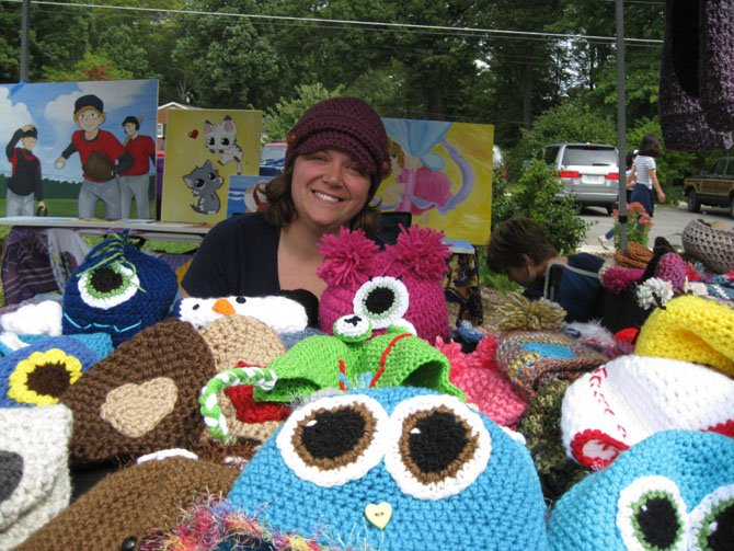 Holly Silvia of Happy Hats Crocheted hats.