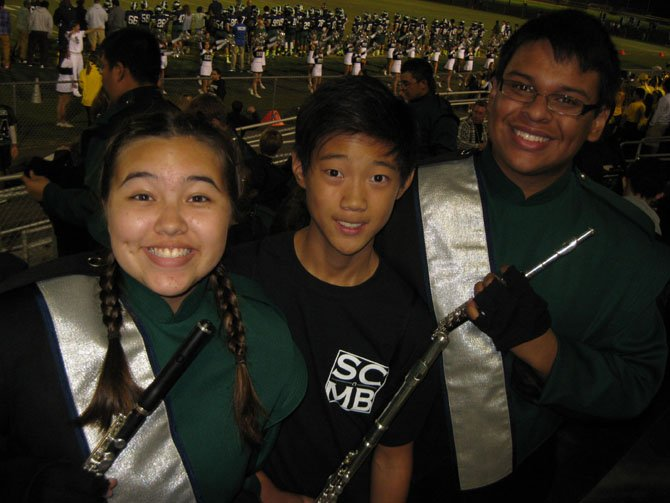 Erica Townsend, 10th grade, Jonathan Ahn, eighth grade, and Steven Mendoza, 12th grade.
