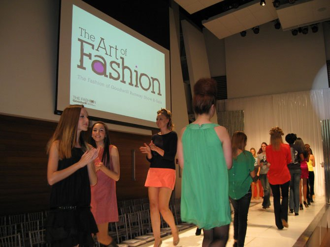 Models at The Fashion of Goodwill Runway Show and Gala at The Artisphere.