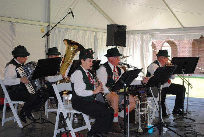 The 27th annual Oktoberfest fundraiser hosted by Sharon Bulova, chairman of the Fairfax County Board of Supervisors, featured a traditional German oompah band, German beer and wine and tours of the Lorton Workhouse Arts Center.