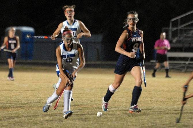 West Springfield captain Kara Kachejian, right, contributed to the game-winning goal against West Potomac on Oct. 1.