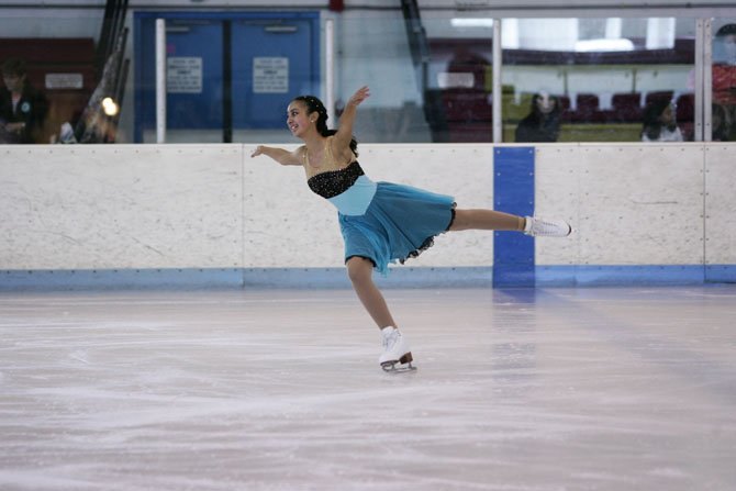 "LaDan Nemati's performance of ""Willow Waltz"" won her a silver medal at the Solo Ice Dance National Championships Sept. 20-22."