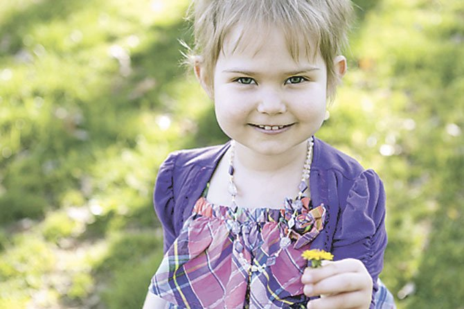 """Ava B"" of Fairfax Corner is in remission from leukemia."