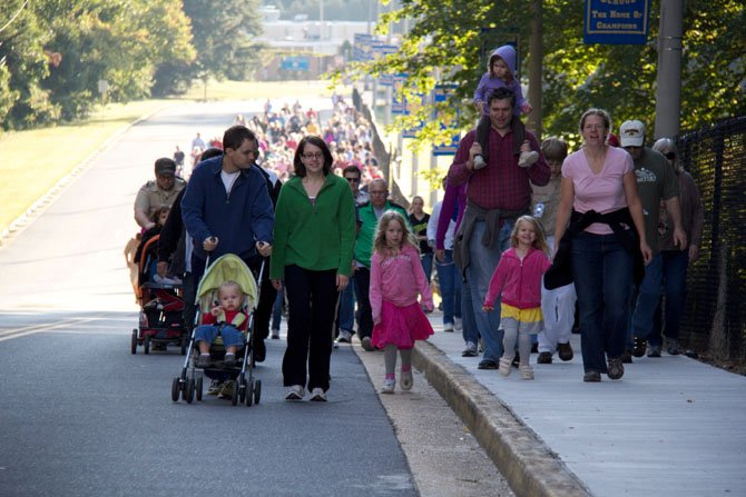 "Participants included families with young ones in strollers, toddlers, teenagers, joggers, dog walkers and numerous ""seniors."""