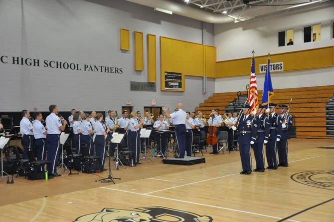 PVI students were treated to a rousing performance by the Air Force Band, Honor Guard and Drill Team.