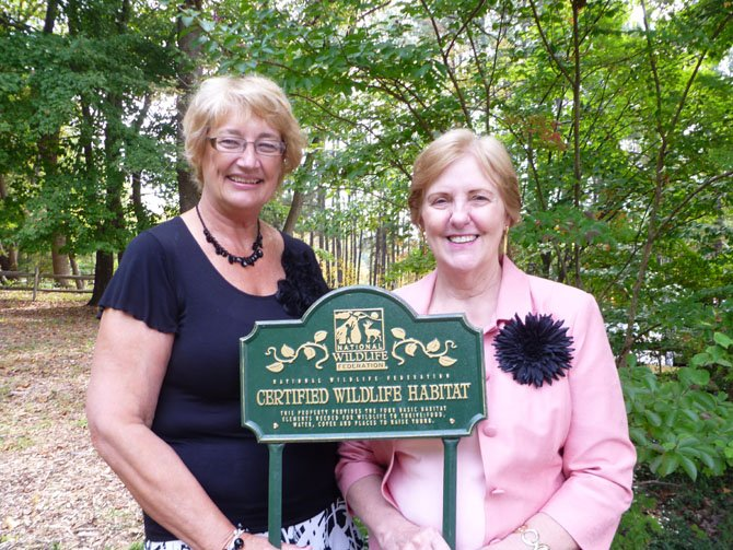 From left—Joanne Neckel and Bev Worek. Neckel headed the effort to ensure that all of the necessary certification elements were present on the museum's grounds.