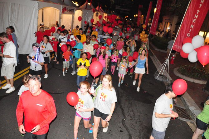 The annual Light the Night walk to benefit the Leukemia and Lymphoma Society takes place at Reston Town Center Saturday, Oct. 5.