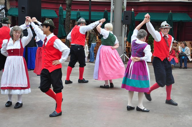 Members of the Alpine Dancers, an ensemble specializing in dance from Austria, Germany and Switzerland, perform at the Reston Oktoberfest 2012.