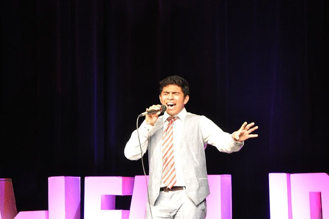 Josh Delgado, winner of the McLean Idol 2013 competition.