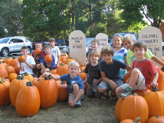 Children at St. Luke's enjoy the opening day of the Pumpkin Patch.