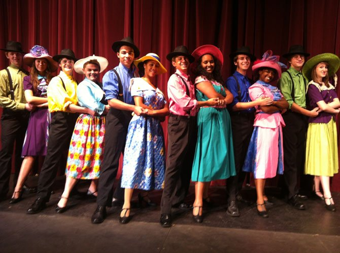 "The dancers of Buenos Aires in Chantilly High's production of ""Evita."""