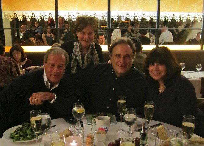 "The authors and their ""Happy Hubbys:"" From left are Mitch Gorochow, author Monica Schaeffer, Ken Rabinowitz, and author Beth Rabinowitz."