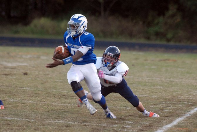 West Potomac quarterback DeMornay Pierson-El passed for three touchdowns and ran for three more against West Springfield on Oct. 14.