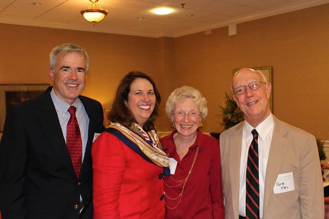 From left—Kevin O'Connor, his wife Lynn O'Connor, president and CEO, Jill  and Bob Fri (chairman of the board at Westminster Ingleside Service Corp.) at the celebration.