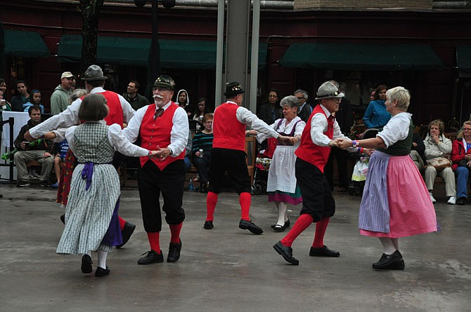 The Alpine Dancers perform at Reston Town Center as part of Oktoberfest Saturday, Oct. 12.