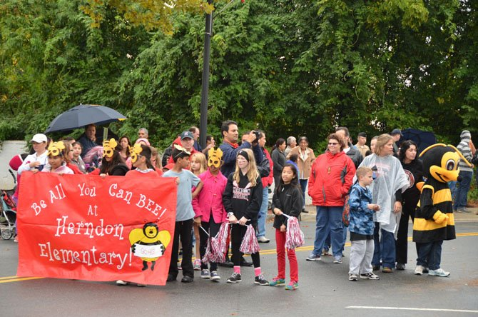 Alumni and friends of Herndon Elementary School marched in this year's parade.