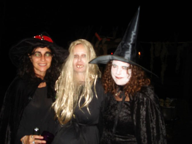 Ester Pline, Nicole Smith and Jacquie Lambertson in the Witches Coven.