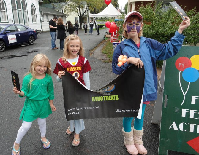 From left: Sisters Kassidy Wolf, 4, Kirra Wolf, 7 and Emma
