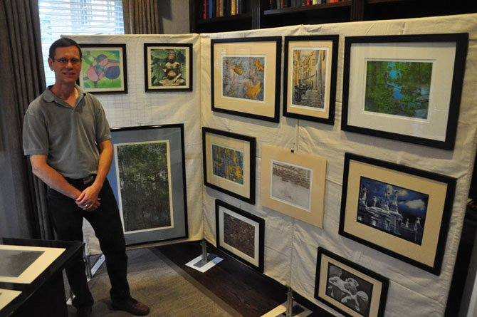 Printmaker Ralph Dashner displays some of his works along the Great Falls Studios Tour.