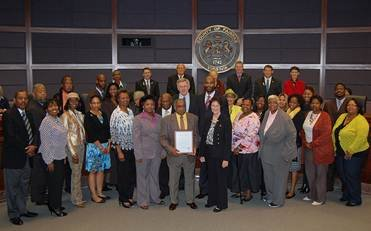The Board of Supervisors honored Shiloh Baptist Church, one of the oldest African-American churches in the area, for its 140th anniversary on Tuesday, Oct. 8.