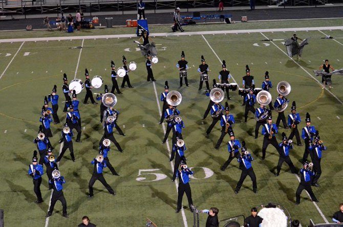 Fairfax High's band and color guard won top honors at Saturday's Bands of America event.