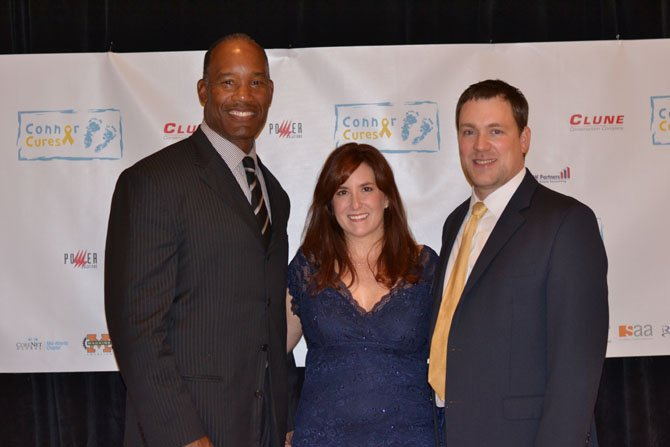Charles Mann and Beth and Henry White at the Connor Cures Gala and Silent Auction.