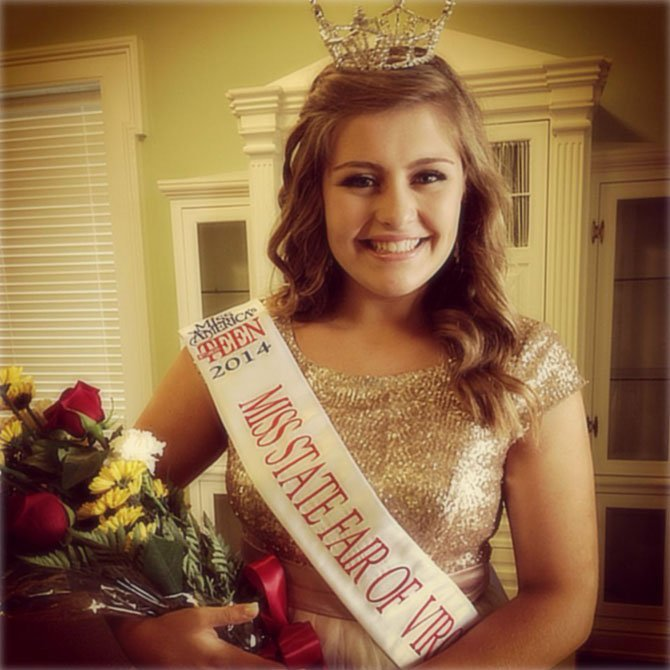 Hanna Rose Hunt, a Langley High School junior, was named Miss State Fair of Virginia's Outstanding Teen.