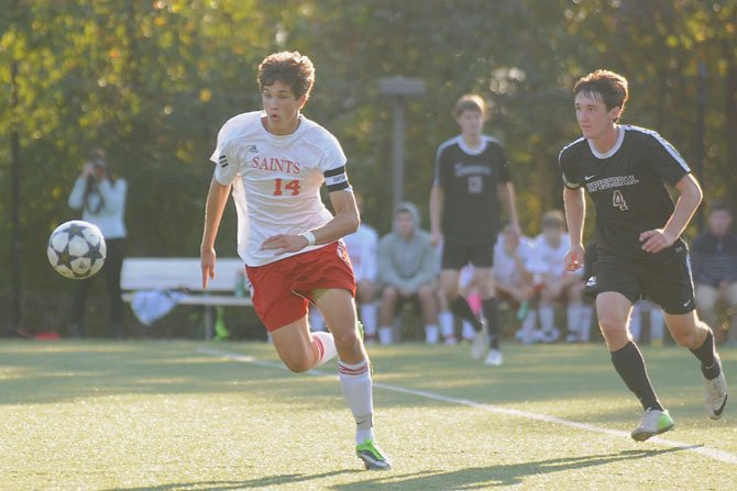 St. Stephen's & St. Agnes senior Graham Guidry scored three goals during the Saints' 5-1 win against Episcopal on Oct. 22.
