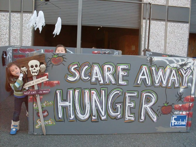 Blake and Brooke Fierst scaring away hunger.