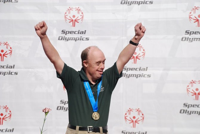 John Burkarth of Herndon is the Special Olympics gold medalist for Virginia. He won the weekend of Oct. 18-20 with a score of 64-86-59 on a course in Galloway, N.J.