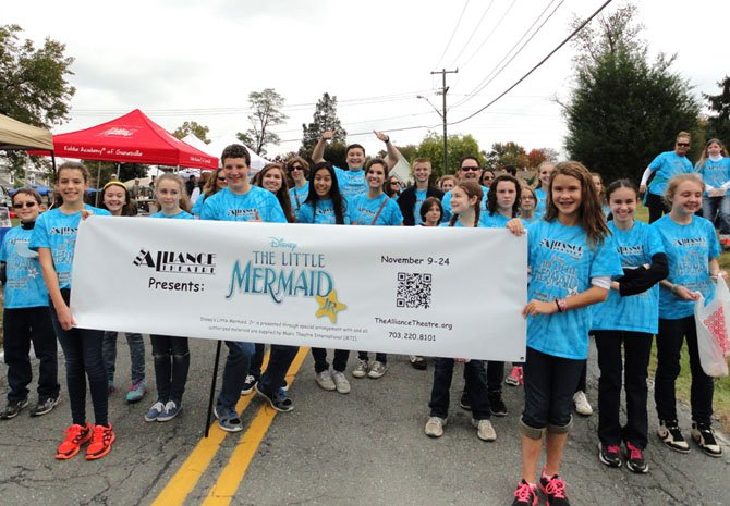 Alliance actors advertise their show during the Centreville Day parade.