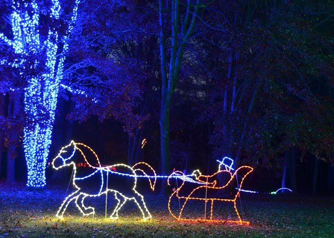 The Winter Walk of Lights will show many different light displays. Tickets are required to attend.