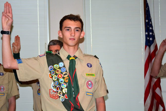 Herndon Boy Scout, Aidan Toole,  achieved the rank of Eagle at St. Joseph Church in Herndon.