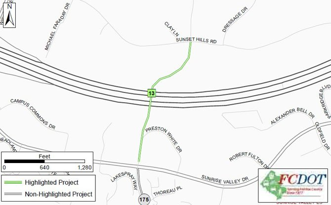 A proposed project that would extend South Lakes Drive as an overpass over the Dulles Toll Road.