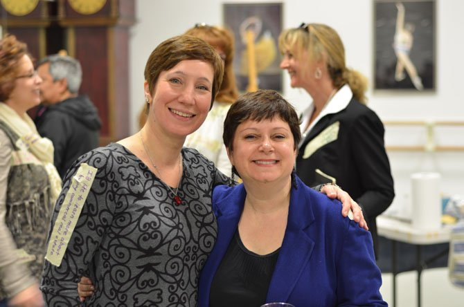 From left -- Herndon resident Tricia Cherrington Ratliff with Council for the Arts of Herndon (CAH) Director Signe Friedrichs.