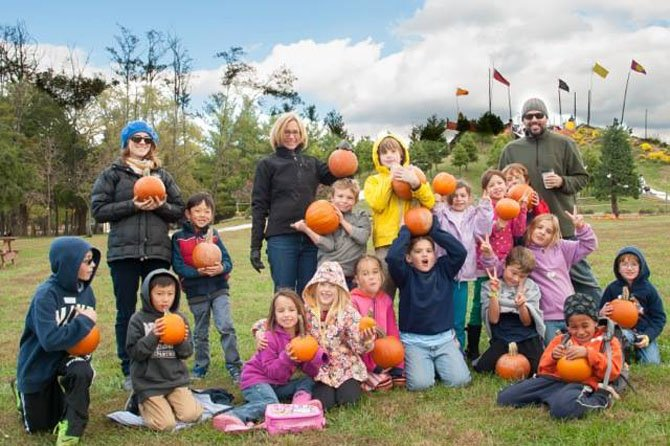 Students and faculty from the Brooksfield School in McLean visit a local pumpkin patch. Brooksfield just celebrated its 25th year.