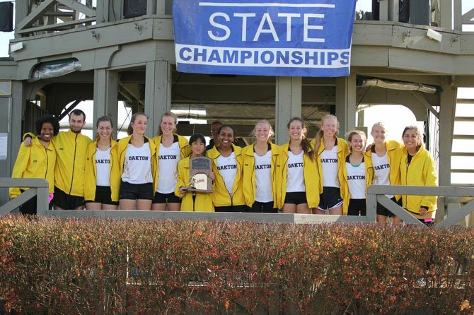 The Oakton girls' cross country team won the 6A state championship on Nov. 15 at Great Meadow.